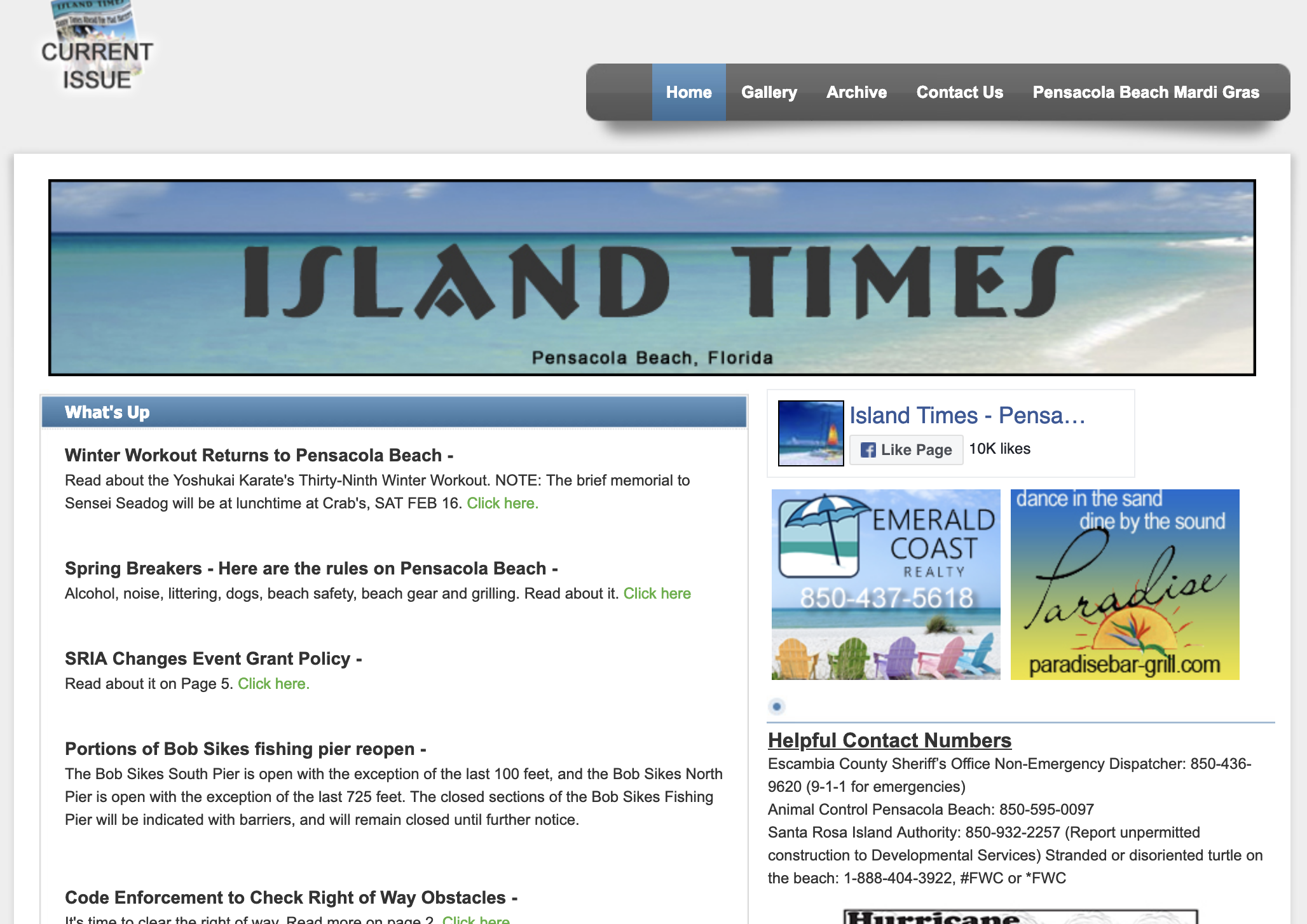 Island Times website screenshot