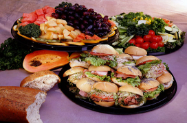 catering trays of food