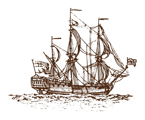 sketch of pirate boat