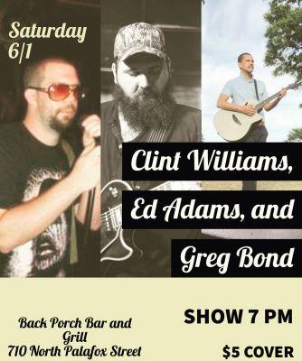 Greg Bond Live @ Back Porch Bar & Grill
