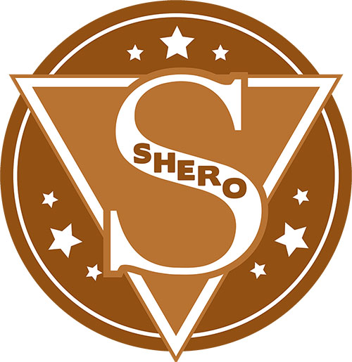 image of copper colored SHERO logo