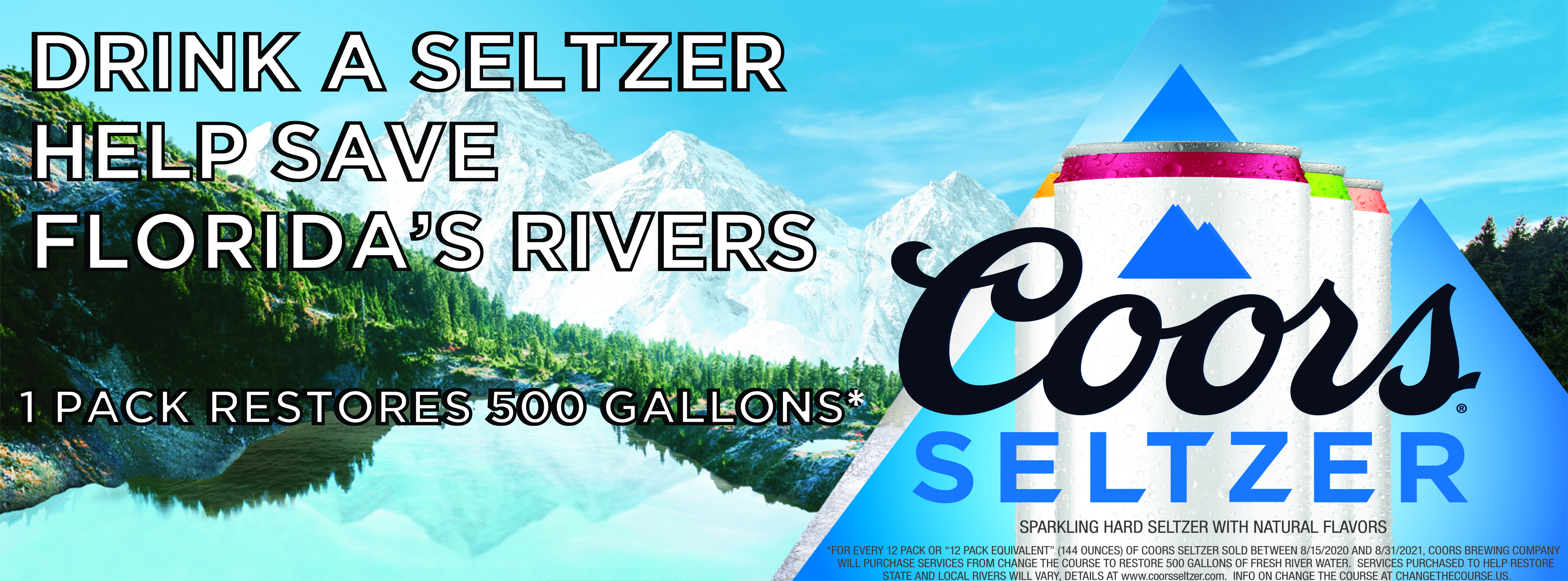 Coors Seltzer Florida Rivers
