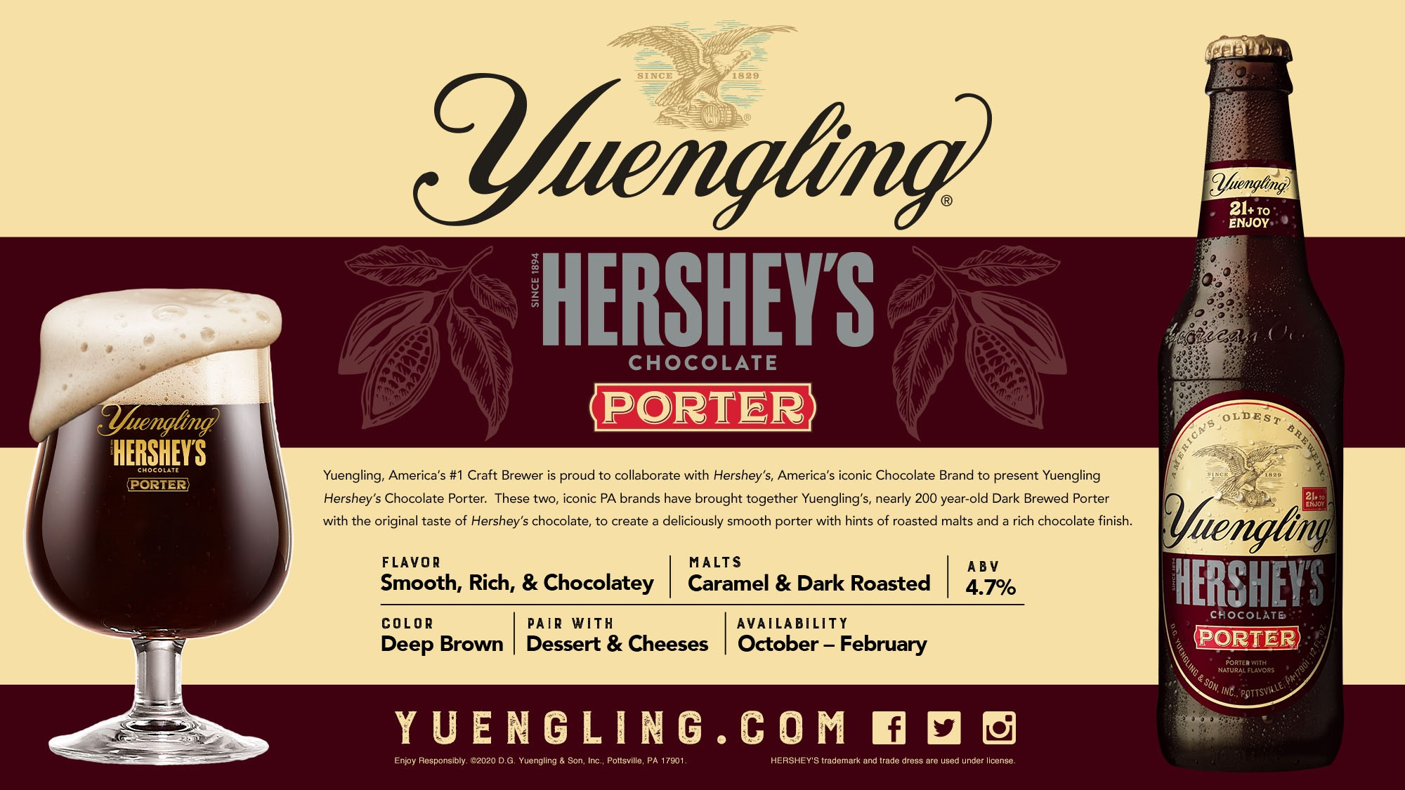 NEW! Yuengling Hershey's Chocolate Porter