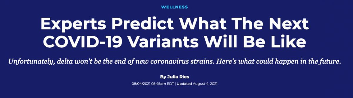 Experts Predict What The Next COVID-19 Variants Will Be Like