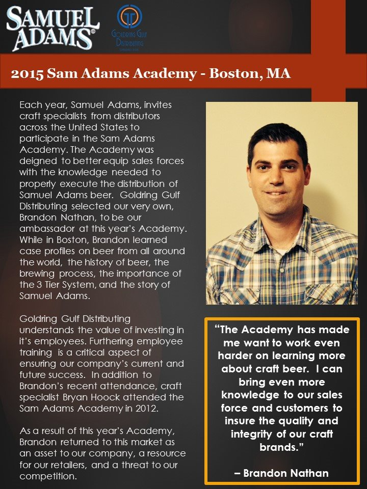 Sam Adams Academy 2015