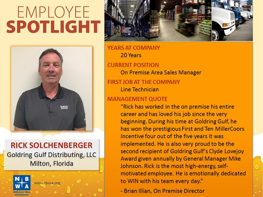 The National Beer Wholesalers Association Recognizes Rick Solchenbeger