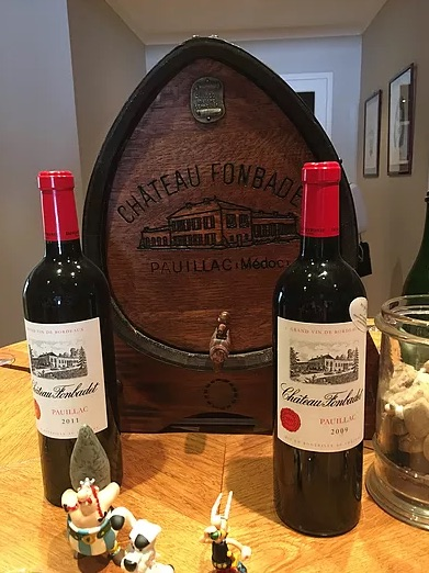 2 bottles of wine on display