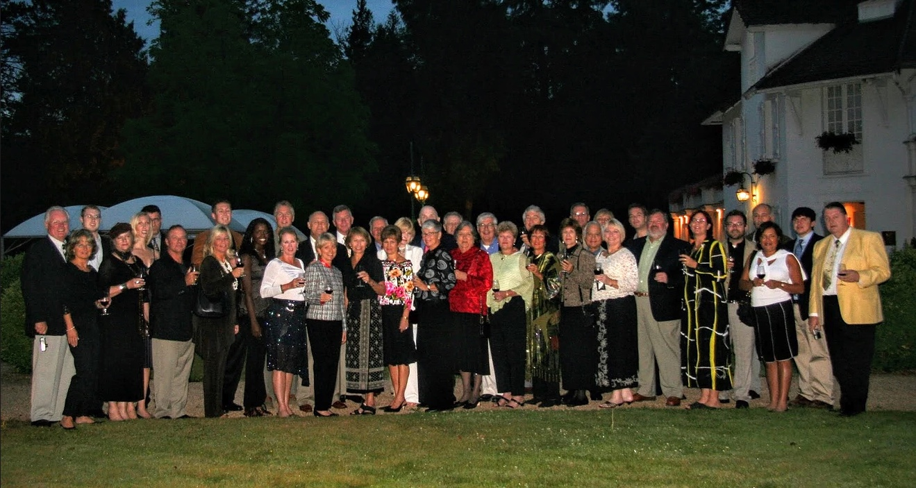 Large group at night