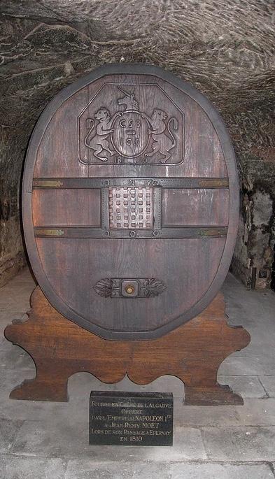 Oak cask given by Napoléon in cellar of Moet et Chandon