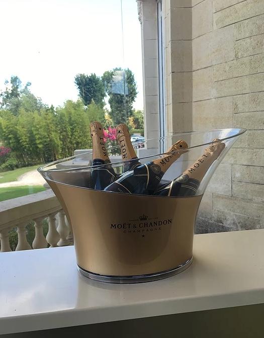 Moët & Chandon Champagne bottles on ice