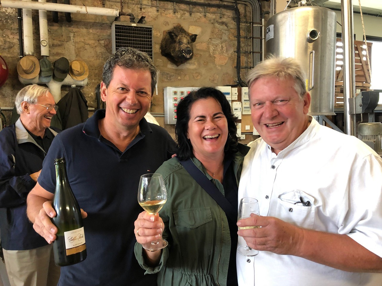 Guests tasting wine