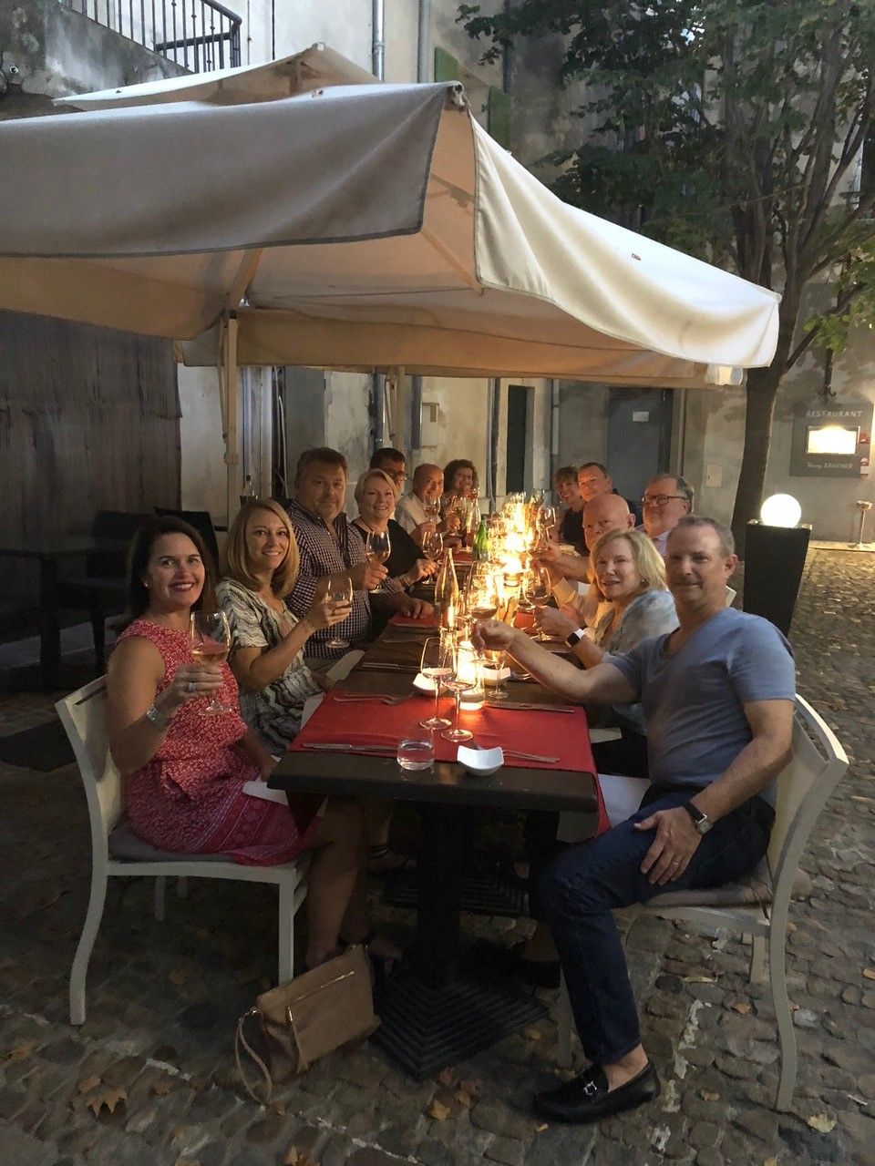 Guests enjoying evening dinner
