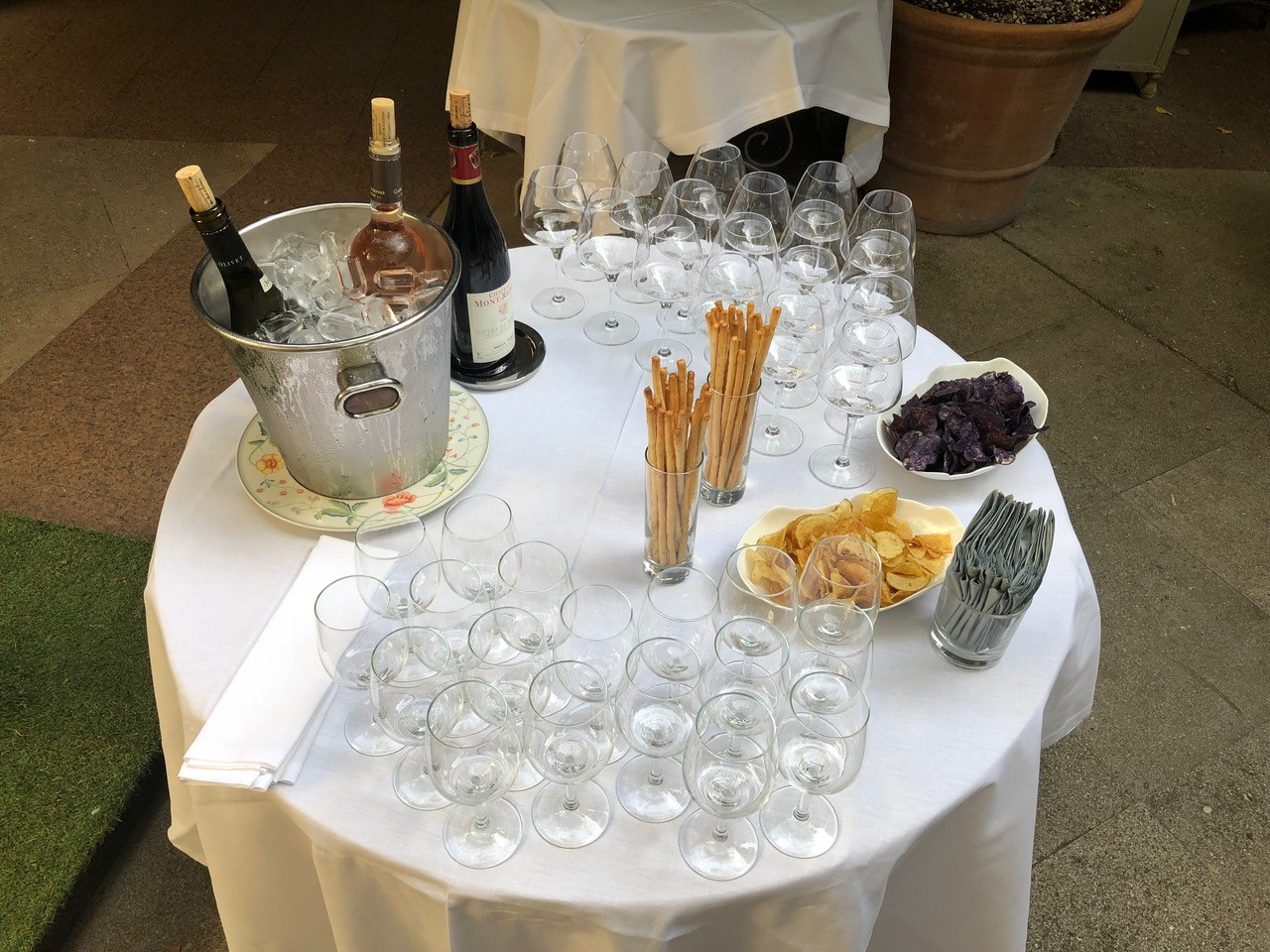 Tasting station at event