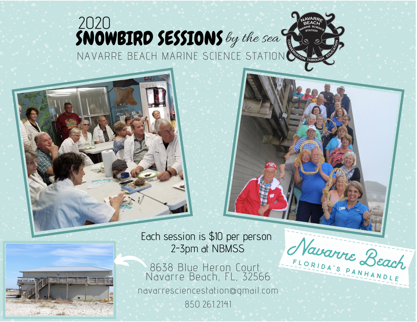 Snowbird Sessions 2020 flyer