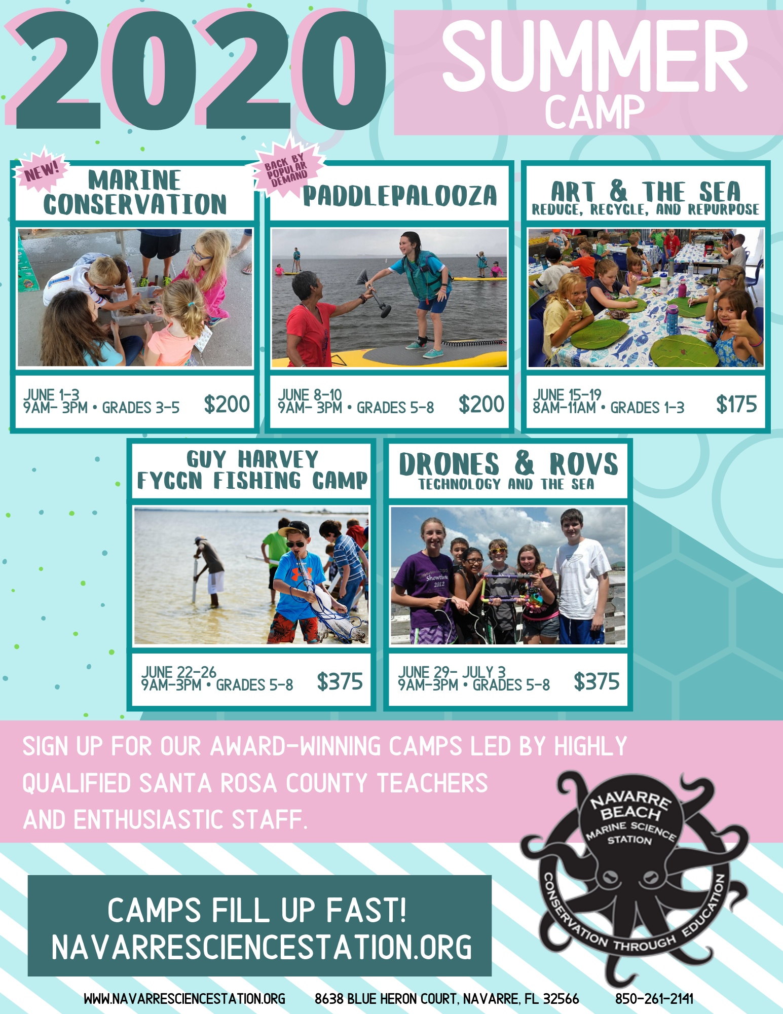 image is a picture of our summer camp schedule