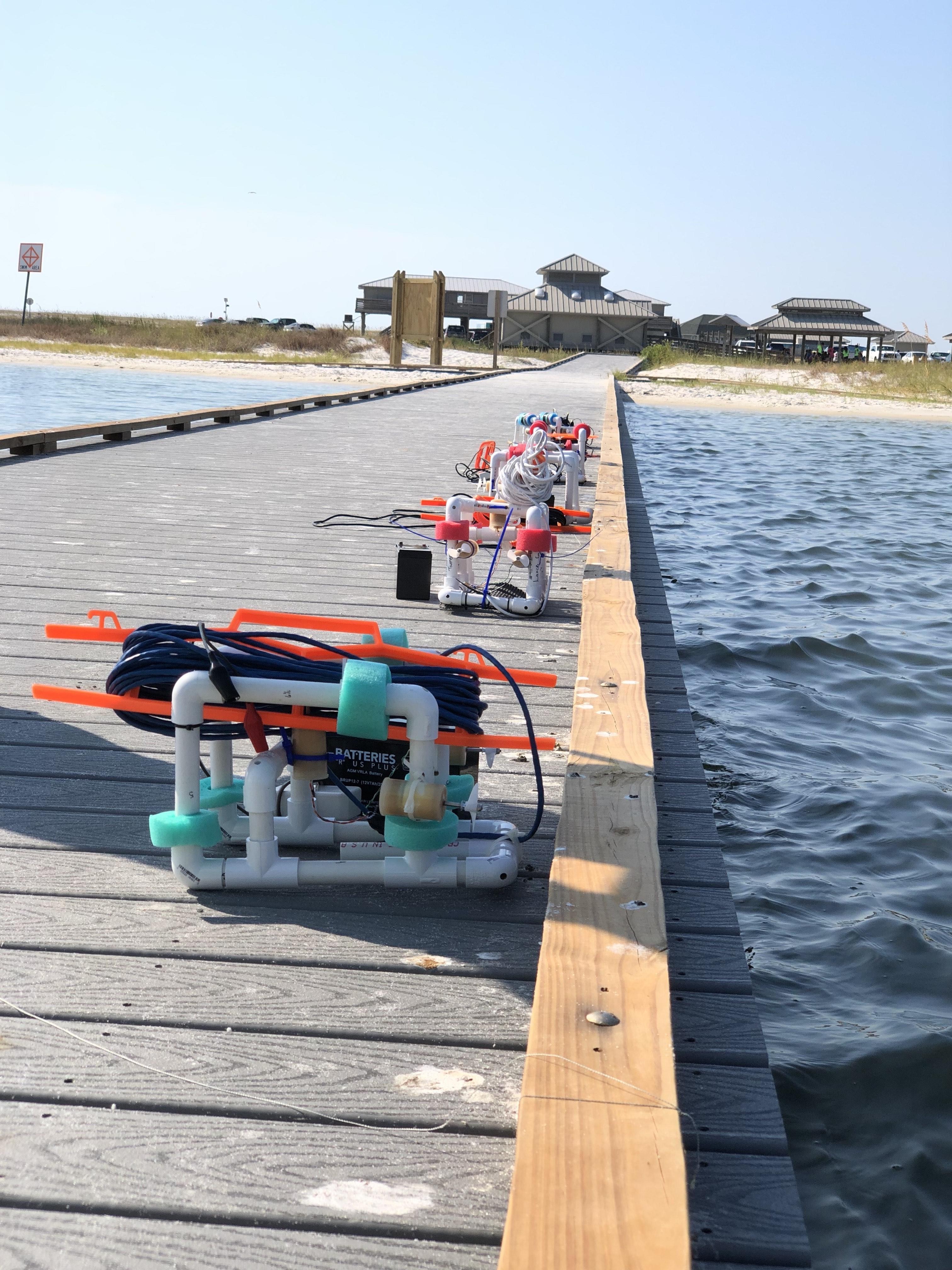 ROVs on dock
