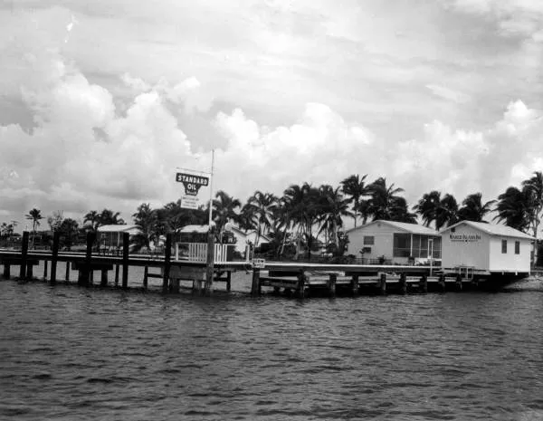black and white image of Olde Marco Island