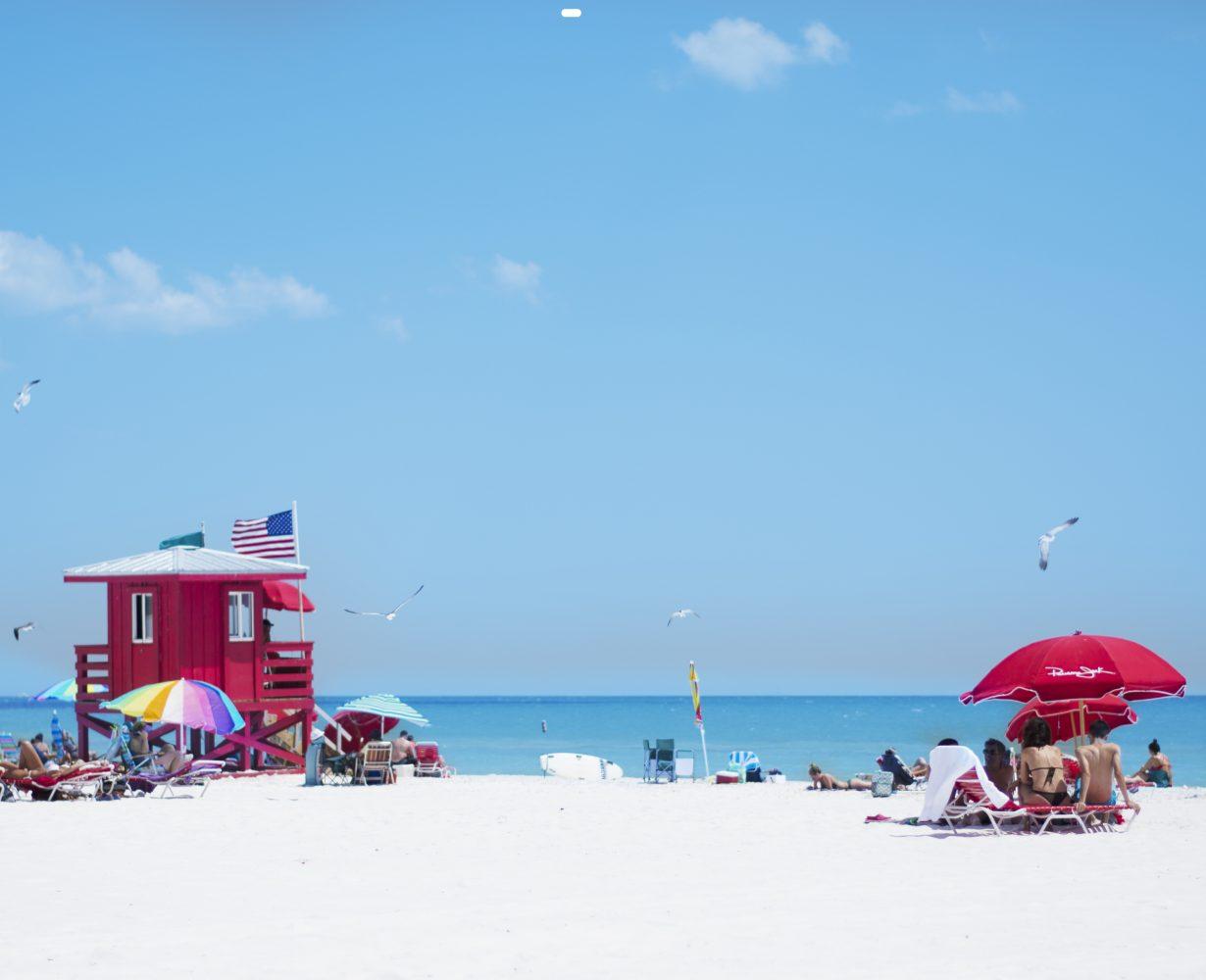 Private beach view