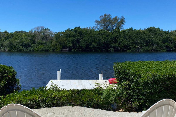 Wide view of lagoon, a favorite view at Siesta Key Bungalows