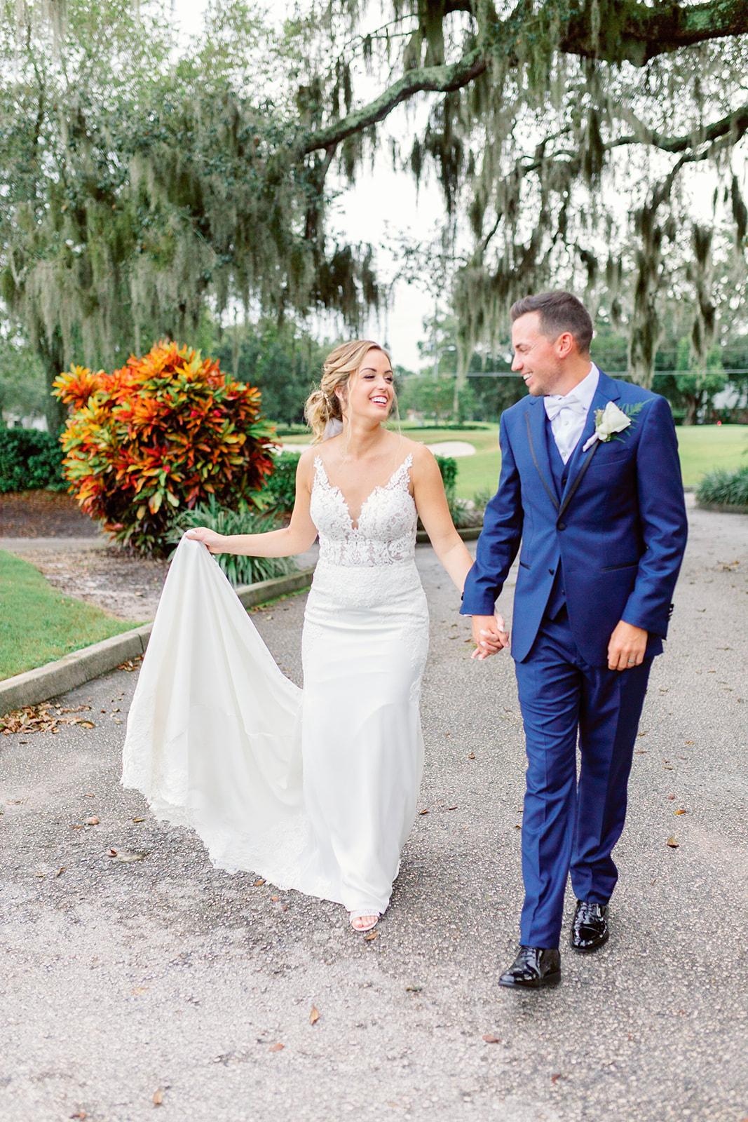 orlando wedding venue - dubsdread catering - couple walking