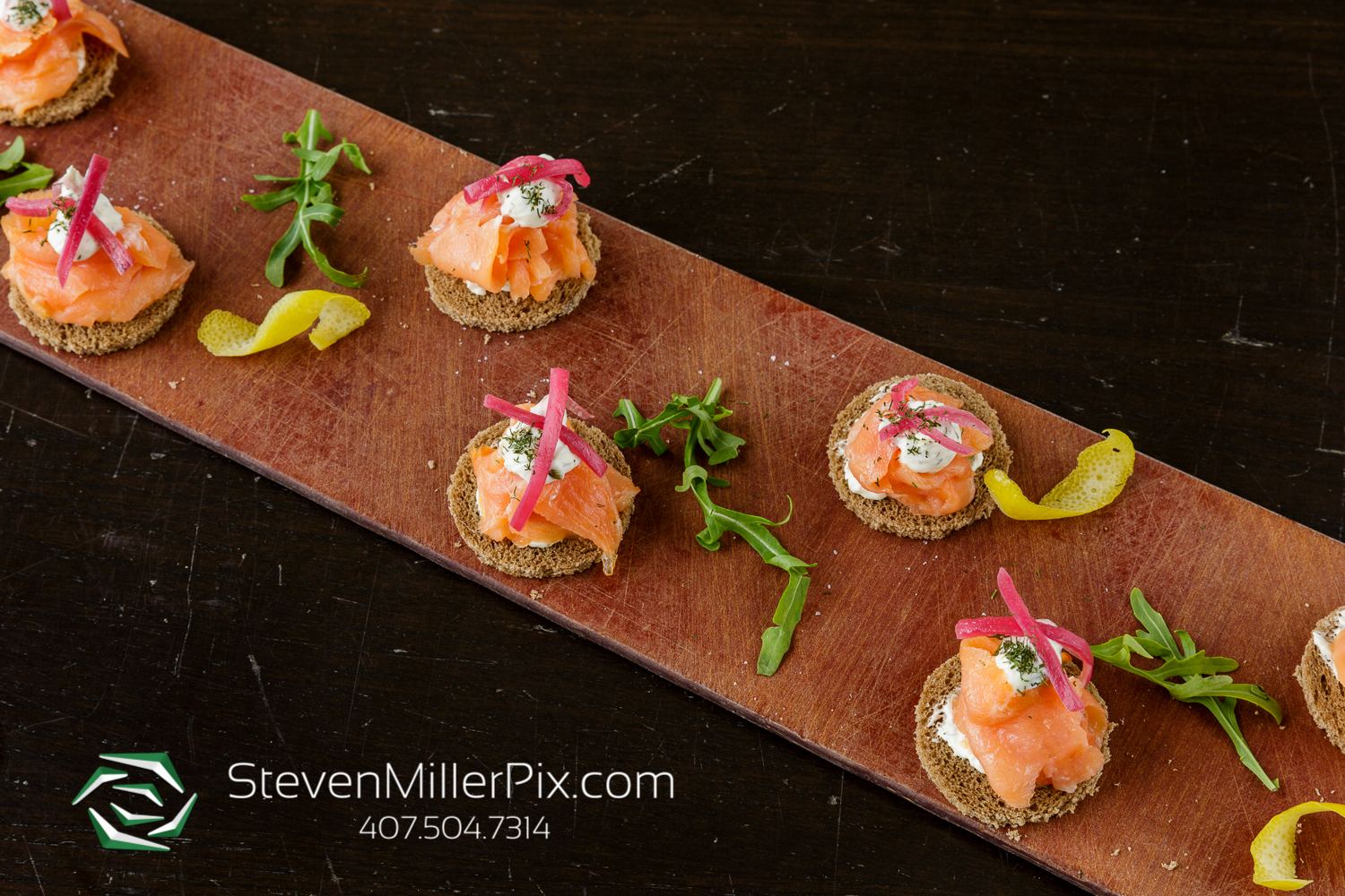 Lox, Cream Cheese & Capers on Pumpernickel