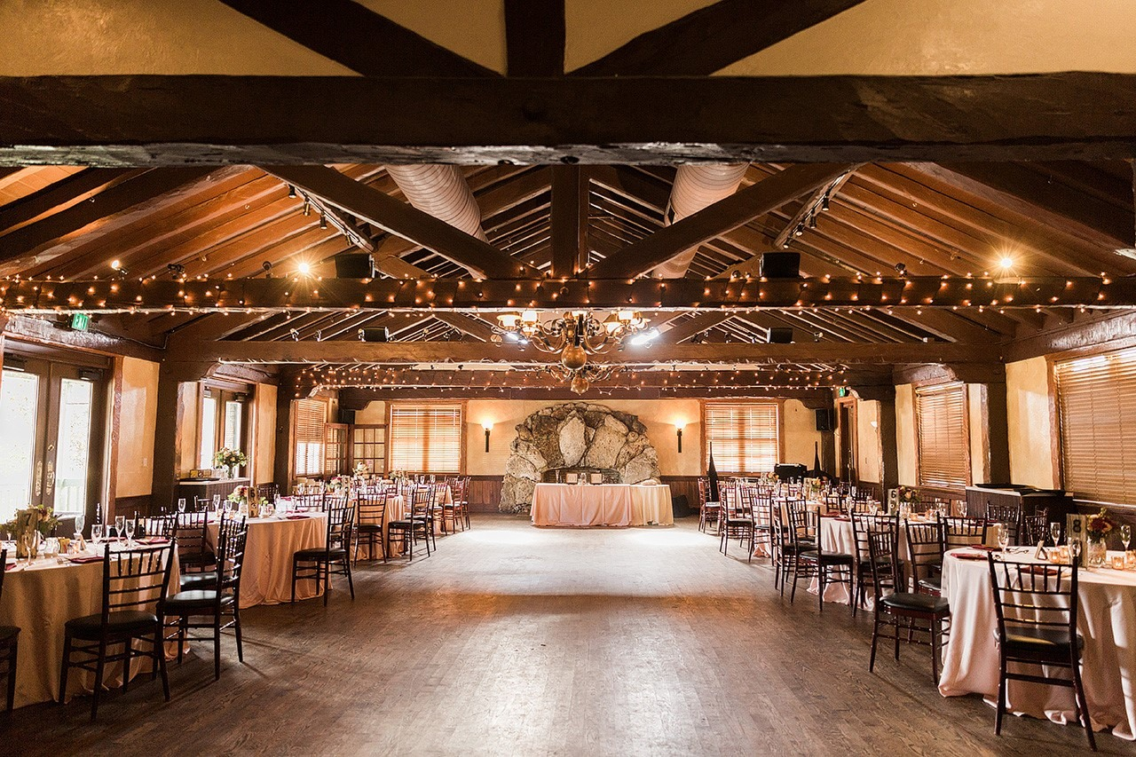Historic Dubsdread ballroom, decorated for a reception