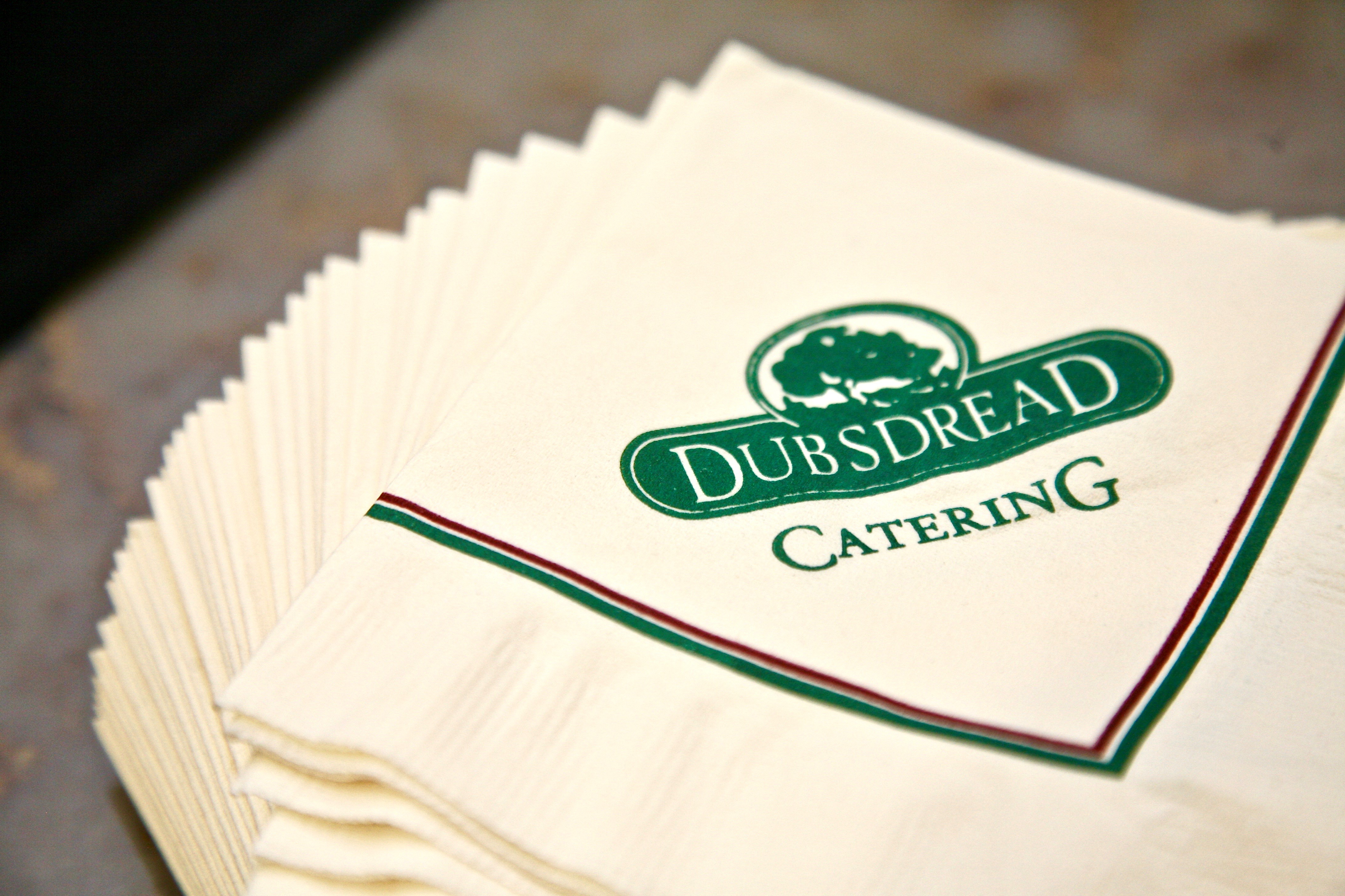 dubsdread catering napkins