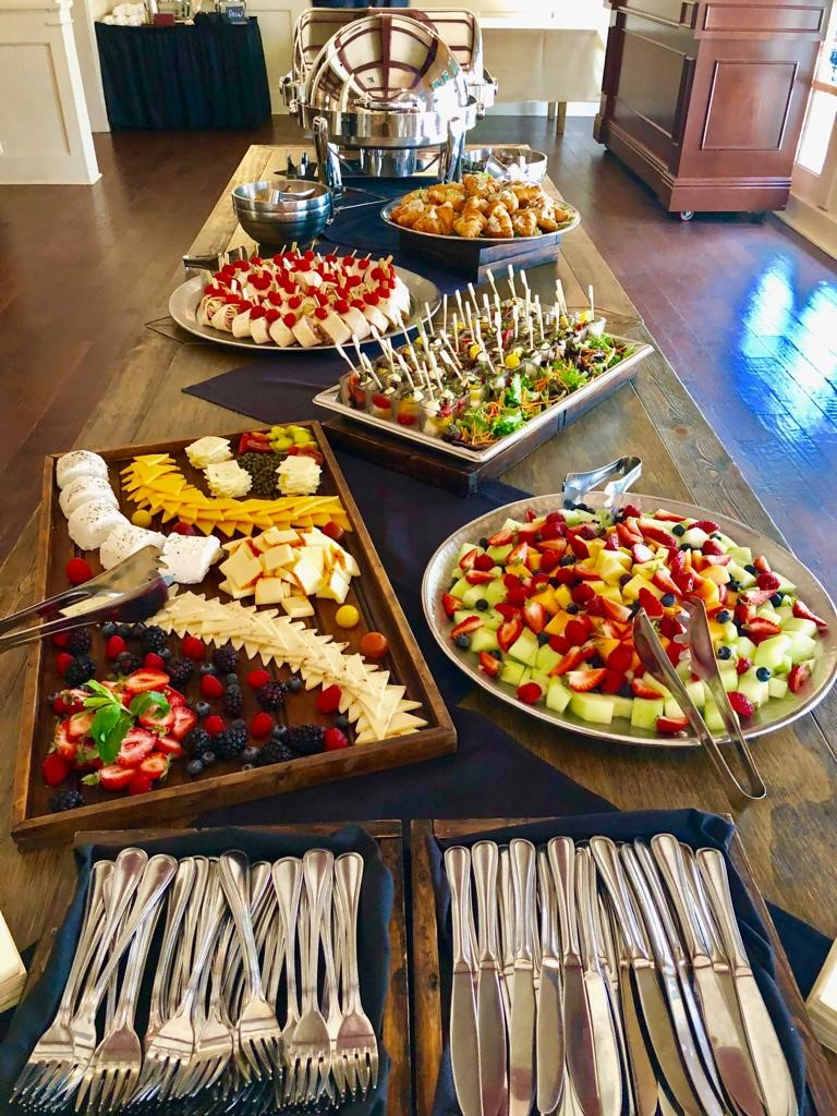 fresh buffet spread
