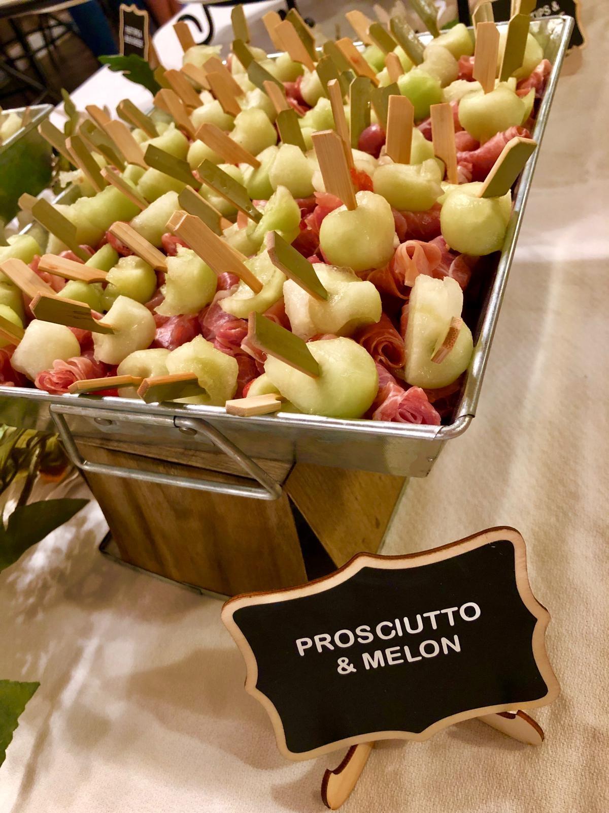 prosciutto & melon skewers