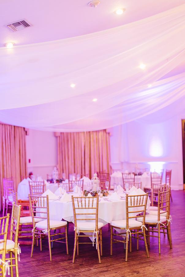 rosy ballroom decor