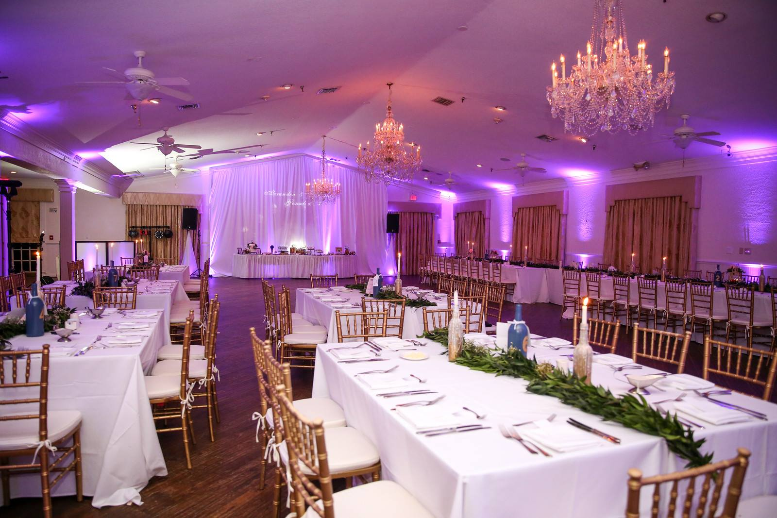 ballroom layout and decor