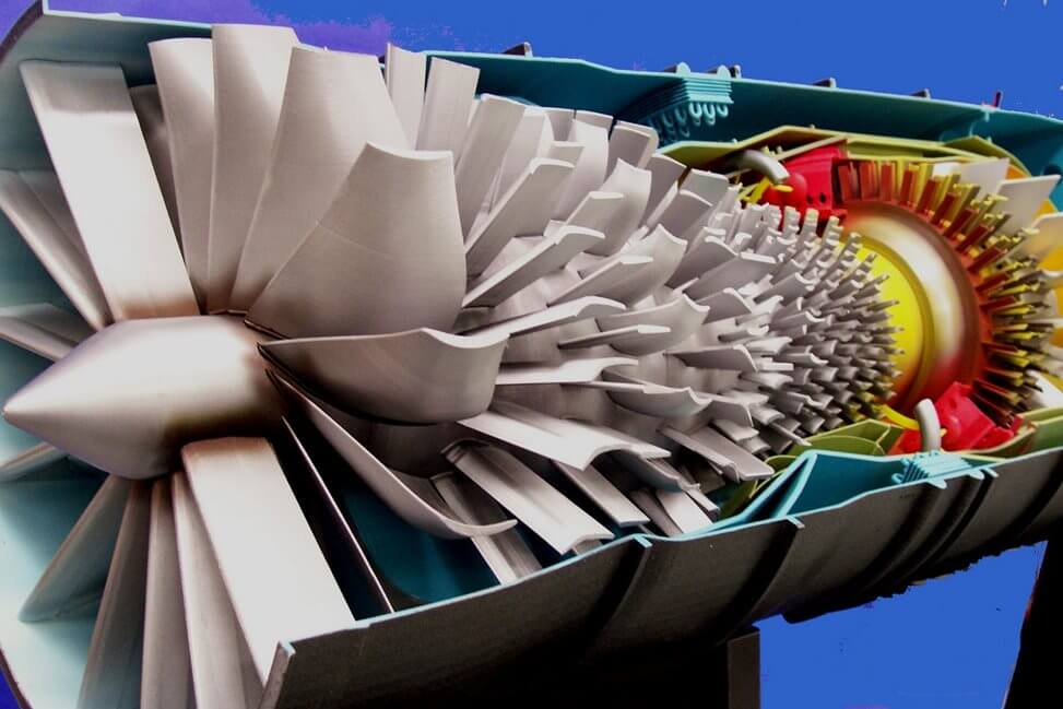Turbine Engine Cut A Way Model