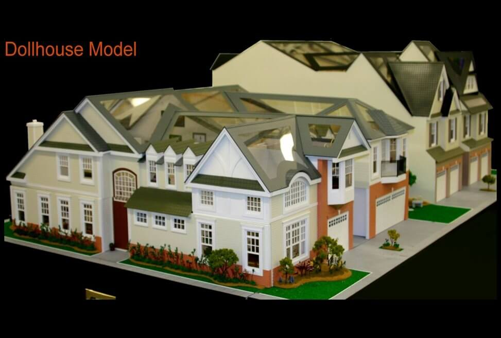 Tri Level Dollhouse Model