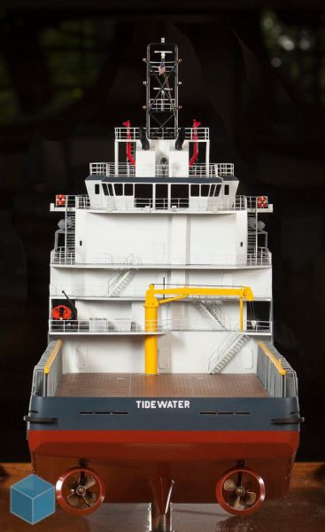 Tidewater ship model