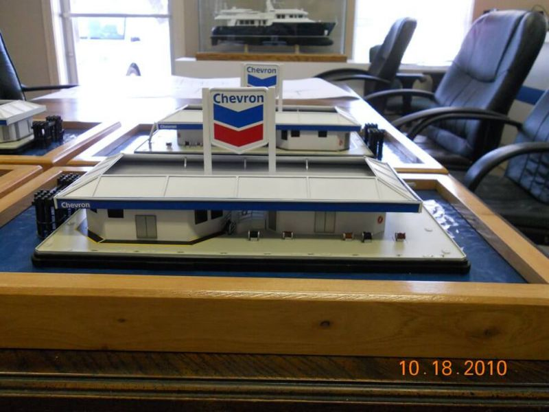 Chevron Barge Model