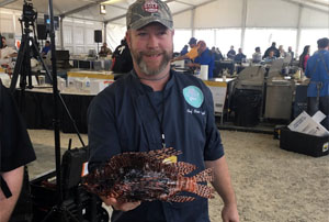 Photo Gallery Chef Chris Displaying a Lion Fish