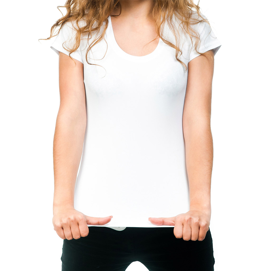 women wearing white tshirt