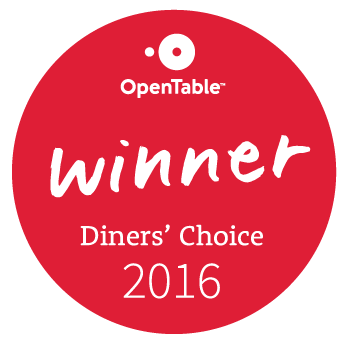 OpenTable Diners' Choice winner award 2016 logo