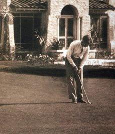 a golfer at the historic Dubsdread golf course