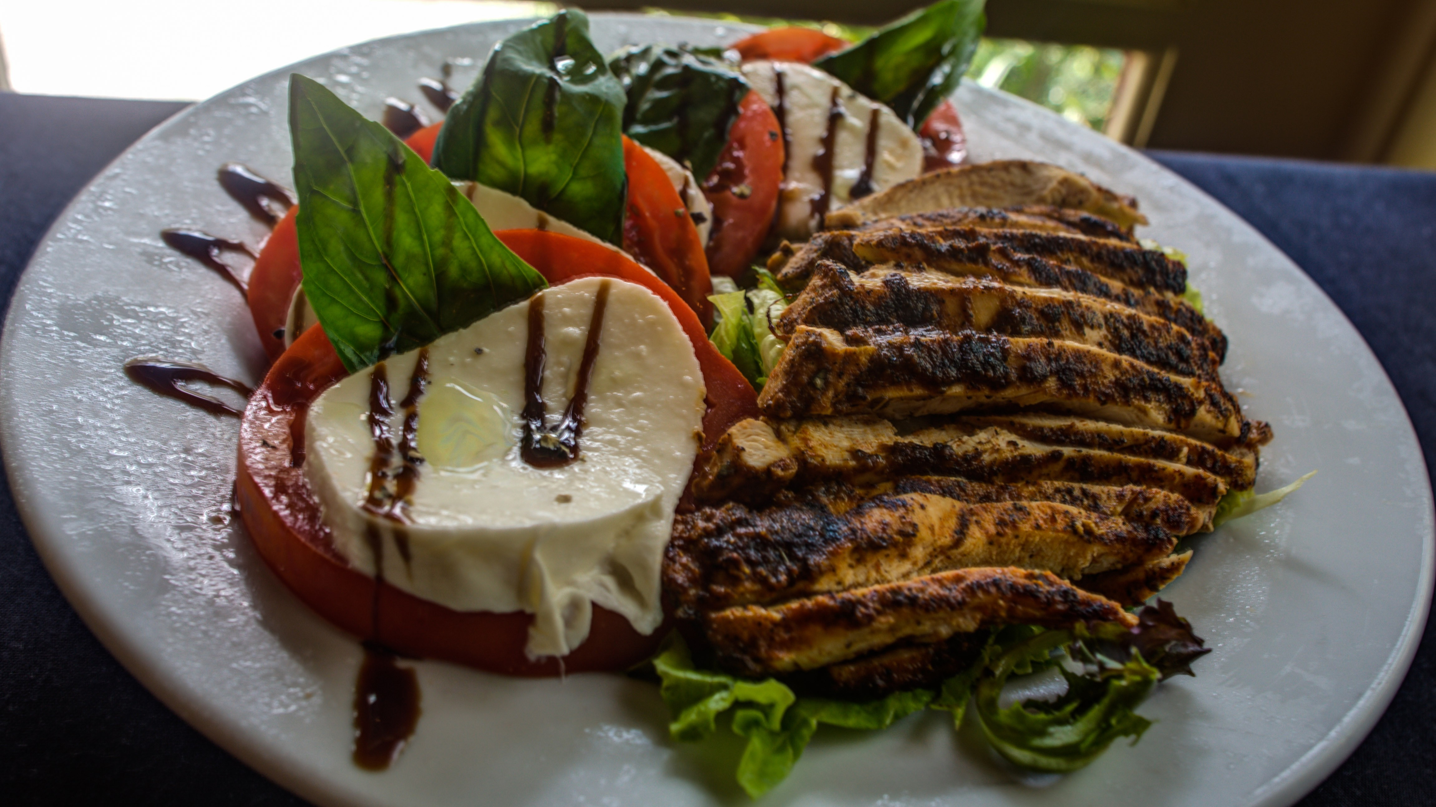 grilled chicken with fresh caprese salad