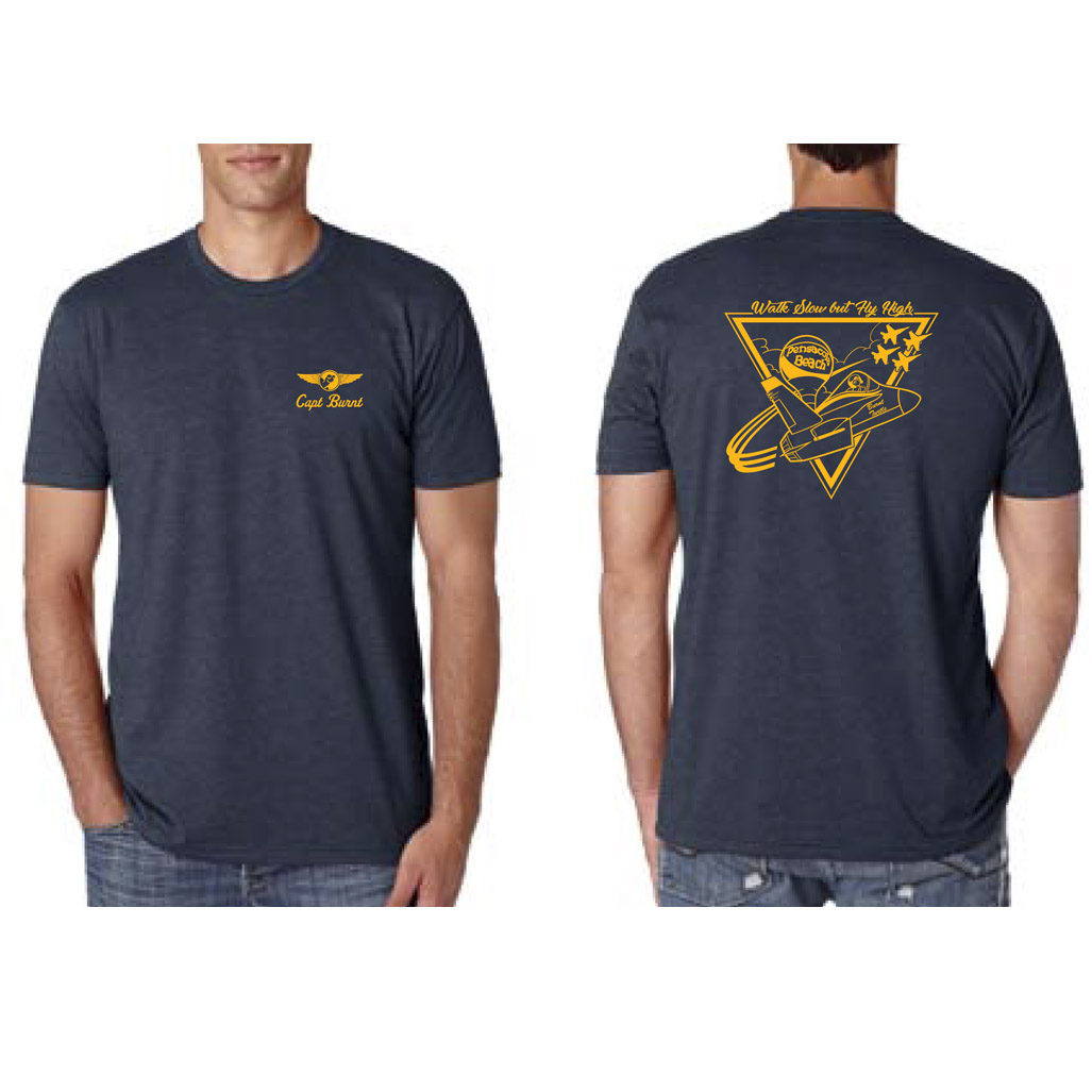 Mens Burnt Turtle Blue Angels Tee