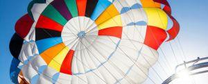 image of a parasailing parachute