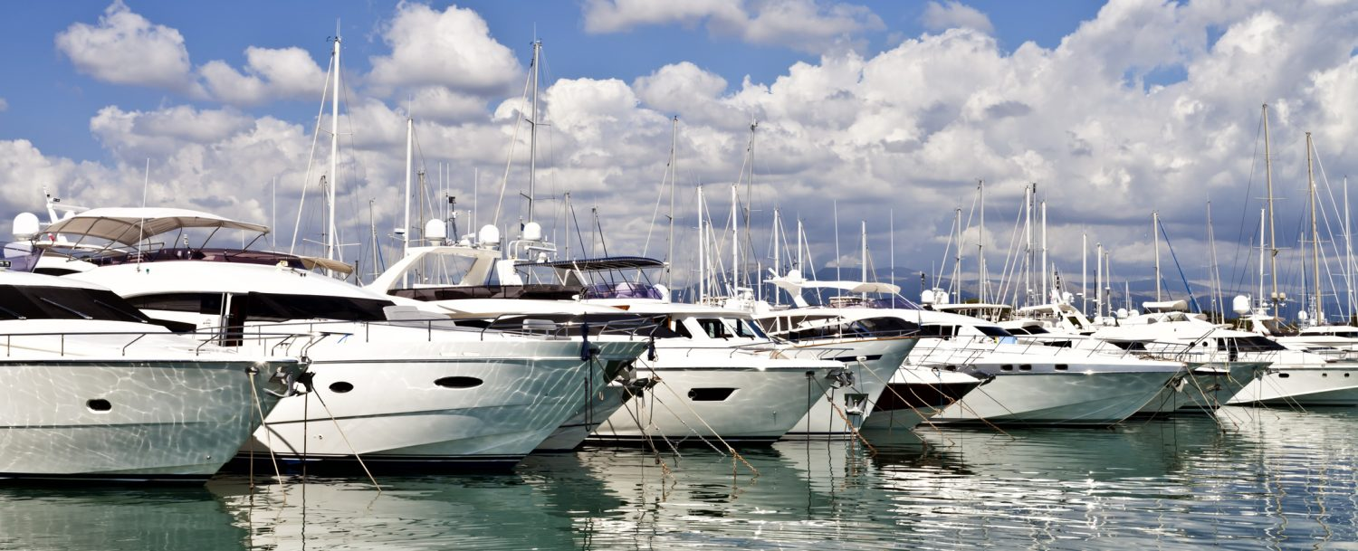 image of powerboats in a marina