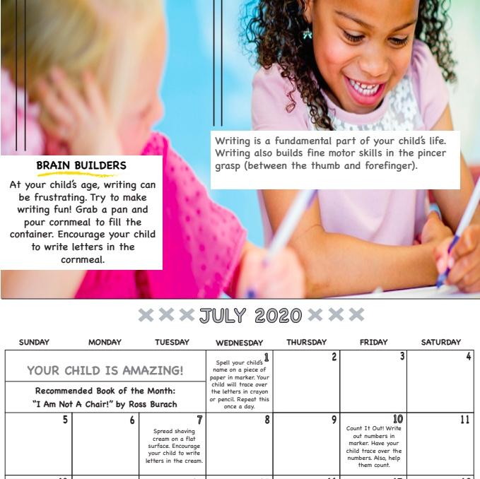 July calendar page