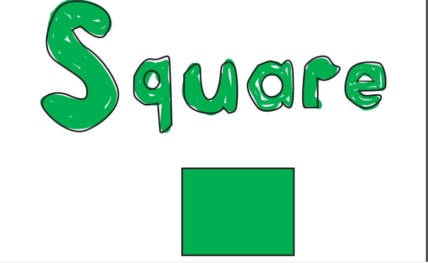 My Shapes flashcard for square