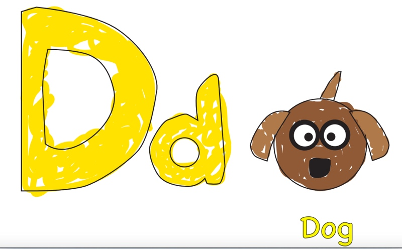 D is for Dog flashcard