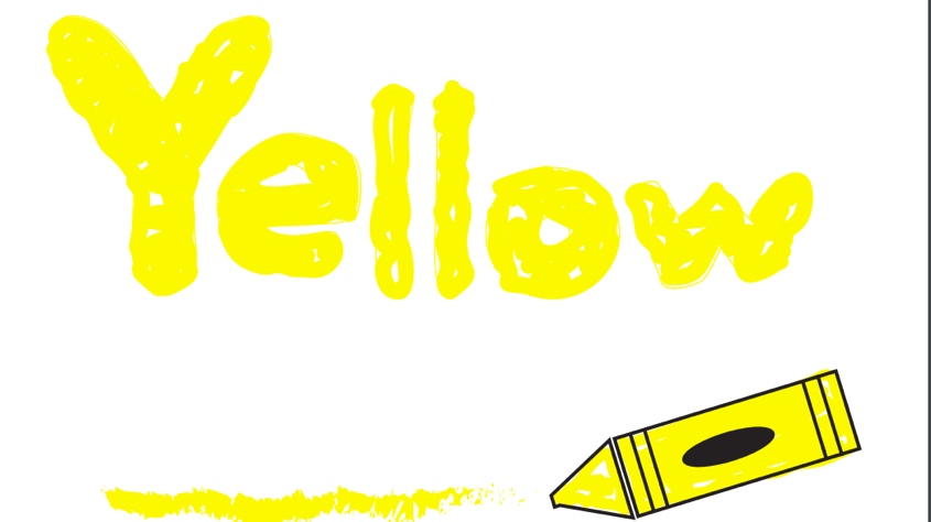 Flashcard for the color yellow