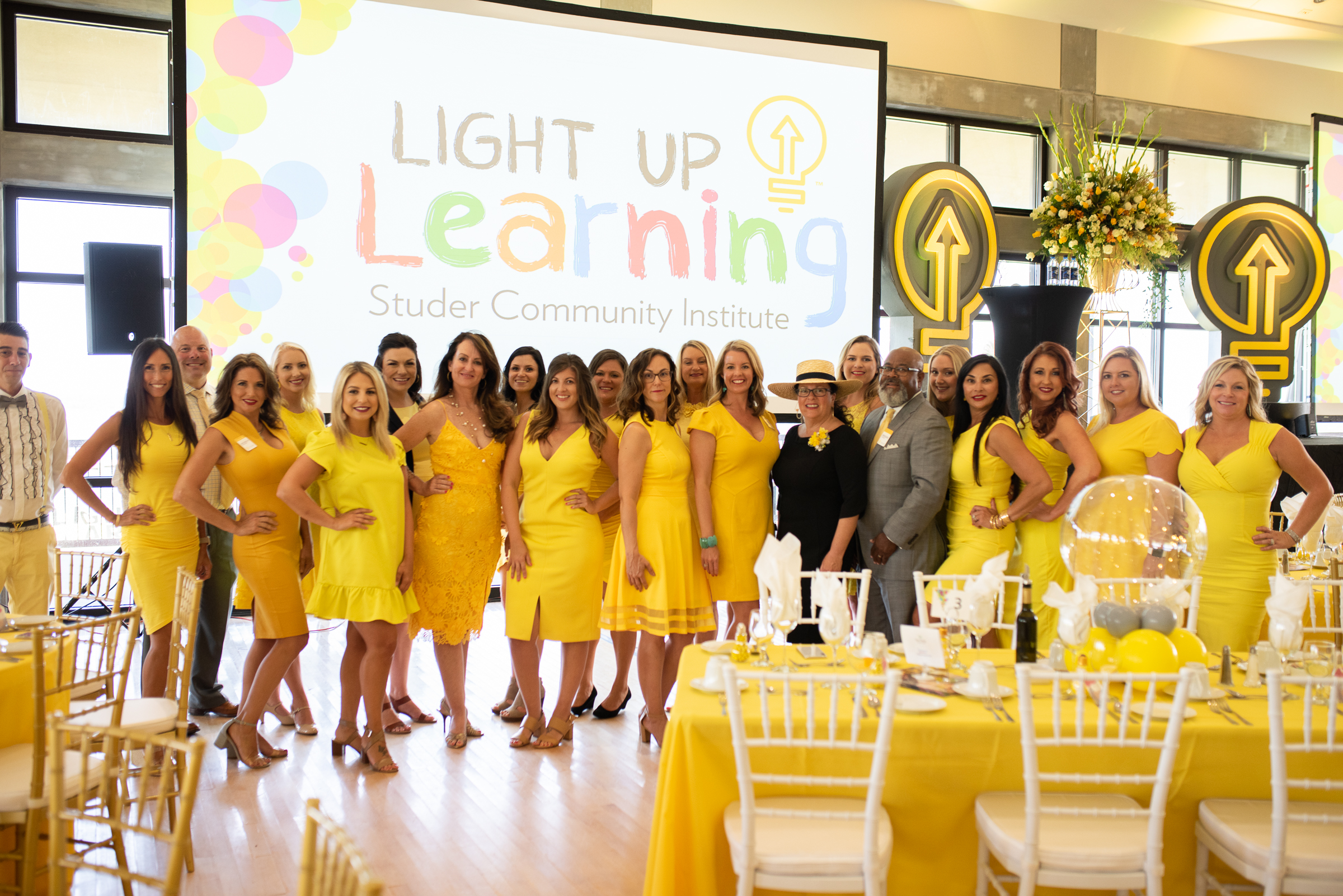 Early learning staff and volunteers showcase Light Up Learning event