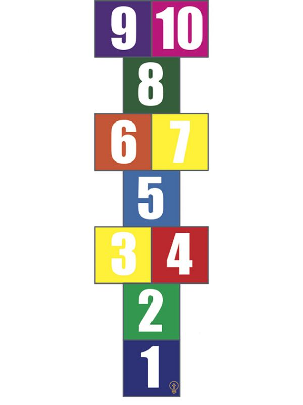 Artwork showing multi-color squares with numbers 1 to 10