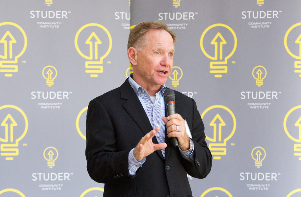 Quint Studer speaking at a Suntrust Session
